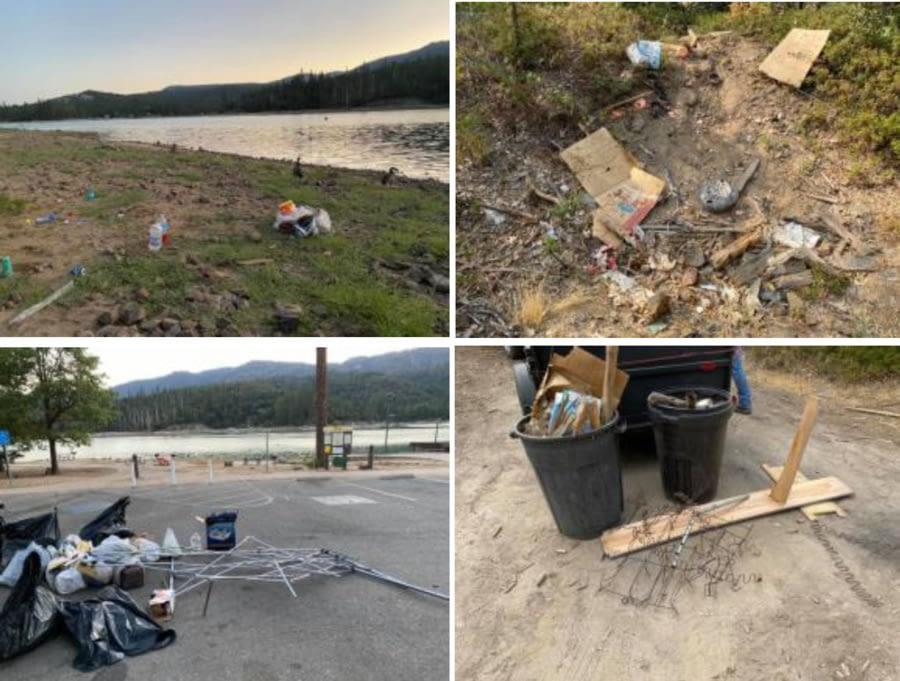 Image of Garbage at Bass Lake California * Bass Lake Realty